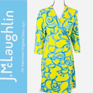 J. McLaughlin Yellow Catalina Cloth Sheath Dress